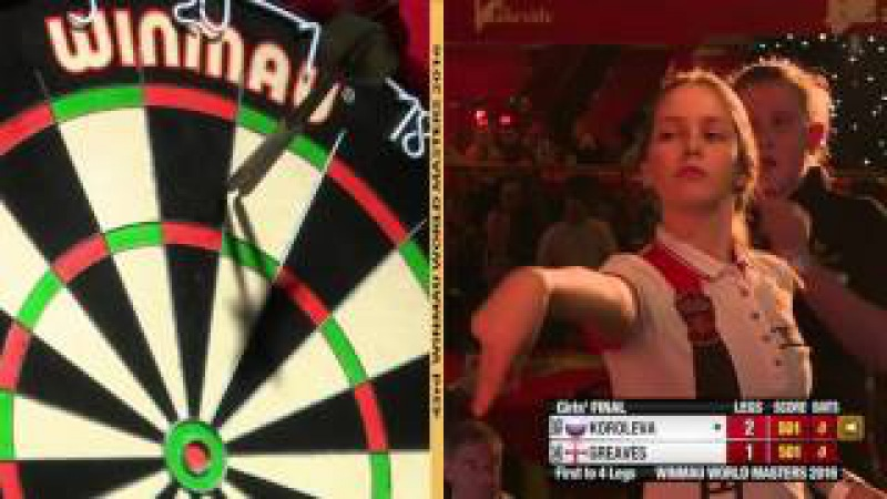 2016 Winmau World Masters Girls' Final Koroleva vs Greaves