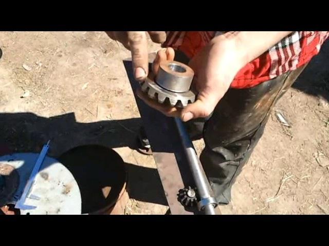 Роторная косилка для мини трактора своими руками 2 (токарные работы)