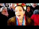 FLASHMOB Citizens from the Russian Far East city Blagoveschensk singing Ukrainian song