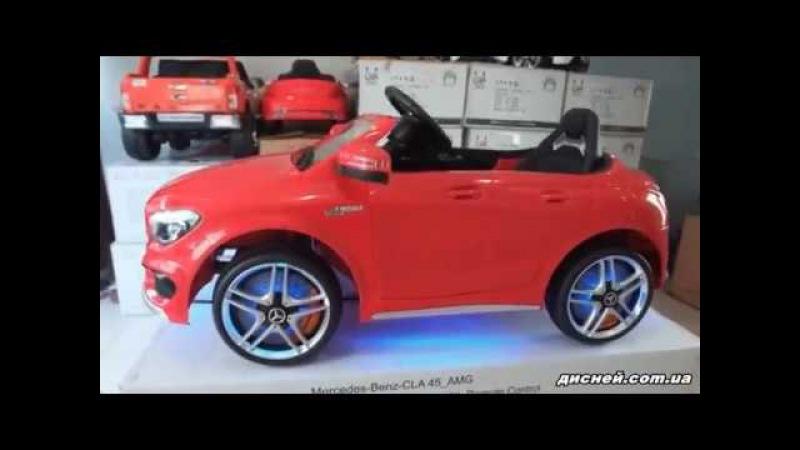 Детский электромобиль M 3183 EBLR-3 Mercedes, кожаное сиденье, красный - дисней.com.ua