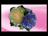 Мастер Класс как сделать красивые цветы из лент  КАНЗАШИ