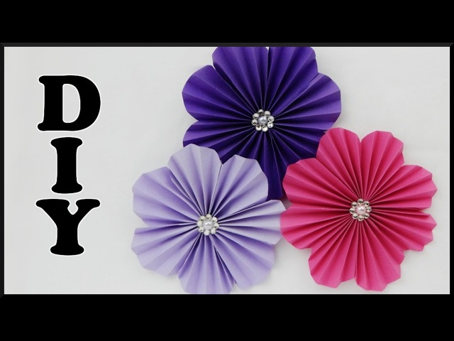 DIY | Wanddeko Papierblumen basteln | Easy Paper flower wall decoration | Wall art