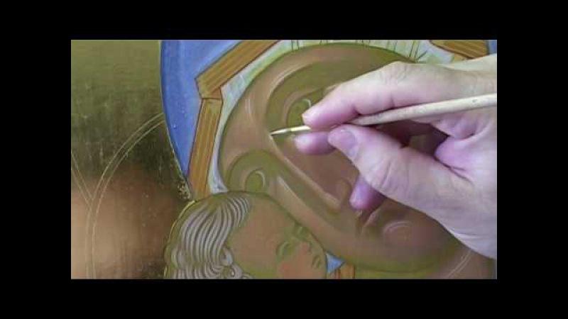 10.4 Dipingere l'icona della Madonna di Vladimir Fase 4: tratti vivi