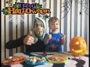 Челлендж Вырезаем Тыкву Хеллоуин Haribo Halloween Pumpkin Challenge Киндеры Свинка Пеппа Peppa Pig