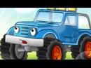Синий трактор - Развивающая Сказка для детей малышей про машины Как Джип стал по ...
