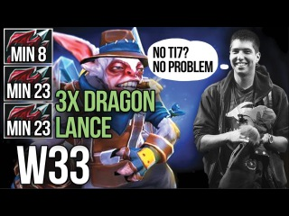 w33 back to Meepo - 3x Dragon Lance - Practice for TI8 - DOTA 2