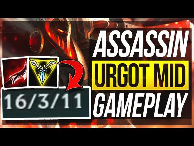 ASSASSIN URGOT IS MORE OP?! The TRUE Build? - Urgot Mid Gameplay - League of Legends