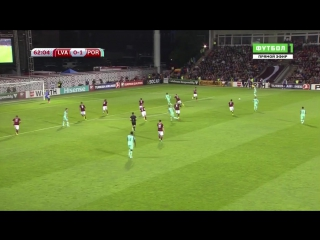 Латвия 0:2 Португалия | Дубль Роналду
