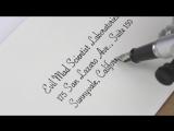 Перьевой плоттер, способный писать каллиграфическим почерком