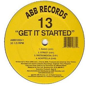 13 альбом Get it Started