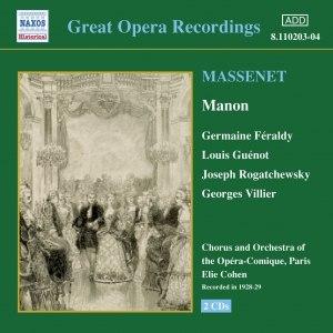 Jules Massenet альбом MASSENET: Manon (Feraldy / Opera-Comique) (1928-1929)