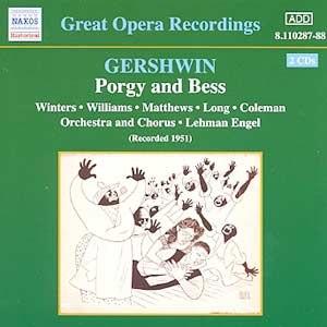 George Gershwin альбом GERSHWIN: Porgy and Bess (Winters, Williams, Long) (1951)