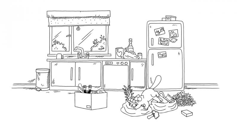 Кот Саймона / Simon's Cat - 60 серия (Dinner Date: Starters / Время ужина: Закуски)