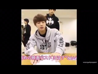 i never knew i needed a compilation of jin getting scared