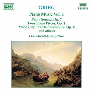 Edvard Grieg альбом GRIEG: Piano Sonata, Op. 7 / Stimmungen / 4 Piano Pieces, Op. 1