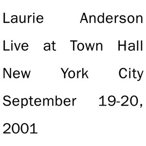 Laurie Anderson альбом Live In New York