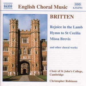 Benjamin Britten альбом BRITTEN: Rejoice in the Lamb / Hymn to St. Cecilia / Missa Brevis, Op. 63
