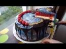 Торт Ван Гог в разрезе