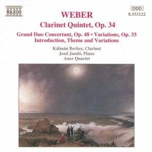 Carl Maria Von Weber альбом WEBER: Clarinet Quintet, Op. 34 / Grand Duo Concertant