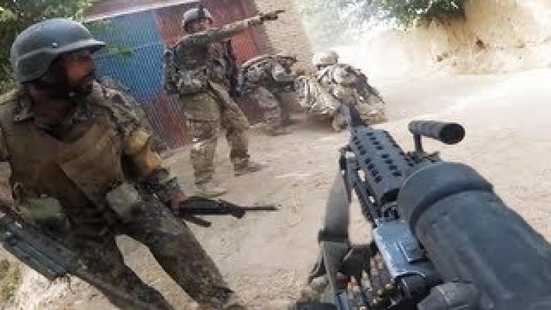 Bullet Whizzes Through Entire Patrol - Helmet Cam Firefight