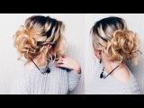 Прическа на ПЕРВОЕ СЕНТЯБРЯ. КОРОТКИЕ волосы до плеч! Hairstyle for short hair LOZNITSA