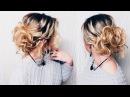 Прическа на ПЕРВОЕ СЕНТЯБРЯ КОРОТКИЕ волосы до плеч Hairstyle for short hair LOZNITSA