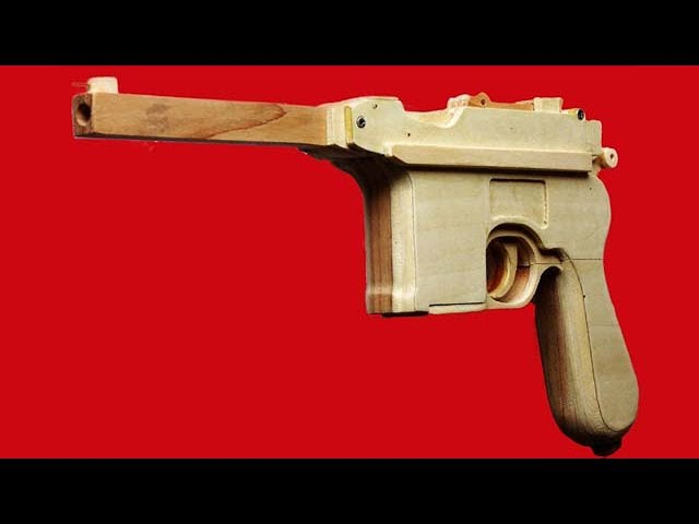 Shell Ejection Rubber Band Gun - Making Mauser