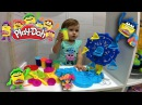 PLAY DOH Распаковка Игрушки Плей До - Лепим Фигурки Из Пластилина