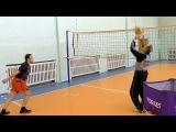 Обучение волейболу взрослых. Для начинающих. Нападающий атакующий удар. Обрабо...