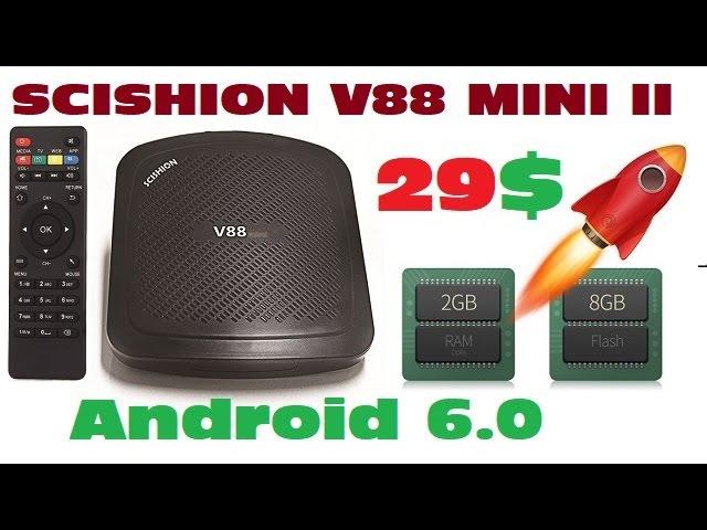 TV BOX SCISHION V88 MINI II RK3229 2GB RAM 8GB ROM