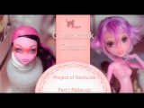 How to Repaint Monster High Doll - Project of Neptunia. Part I  OOAK  Custom  Faceup #17