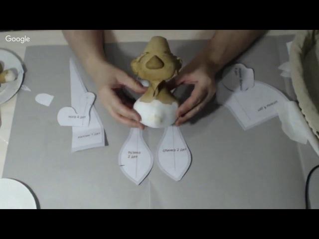 Мастер класс Гномик. Техника грунтованный текстиль