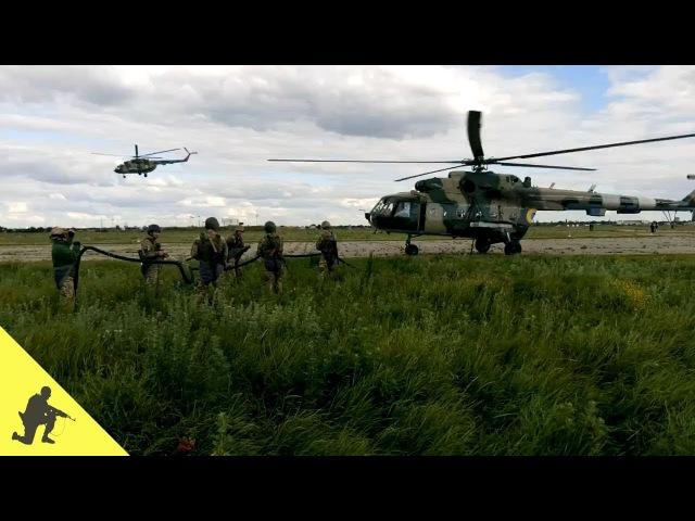 Евакуація бійців за допомогою комплекту зйомного бортового обладнання Адапте