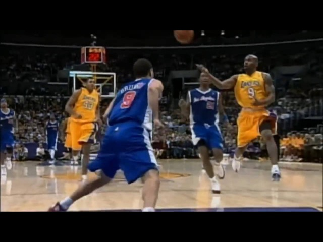 Chucky Atkins Alley Oop to Kobe Bryant