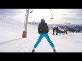 3) Один день глазами безумного лыжника Экстрим.  One day through the eyes of a mad skier Extreme.
