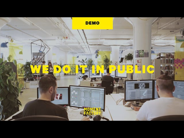 Moment Factory: We Do It In Public Demo Reel [Fall 2015] [DEMO]