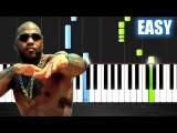 Flo Rida - Whistle - EASY Piano Tutorial by PlutaX