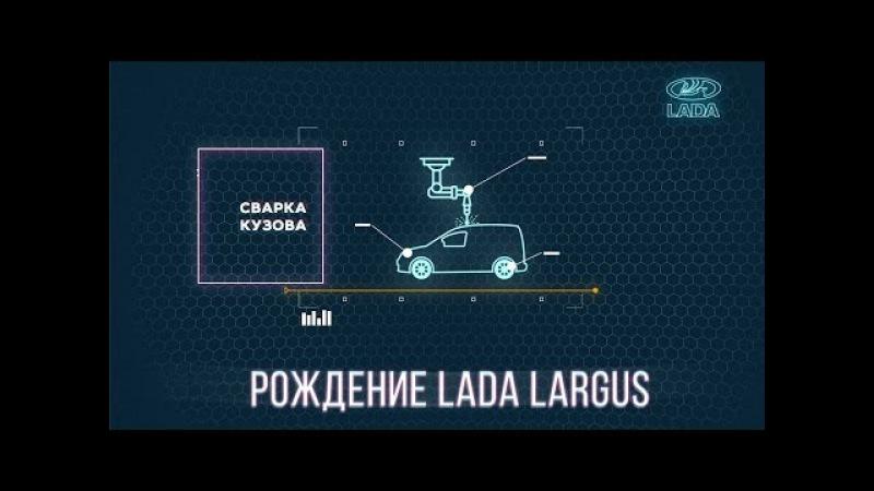 Рождение LADA Largus. Сварка кузова. | The birth of the LADA Largus. Body welding.