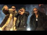 Nicky Jam cantando junto a French Montana y Ty Dolla sign en premiere de XXX Return of Xander Cage