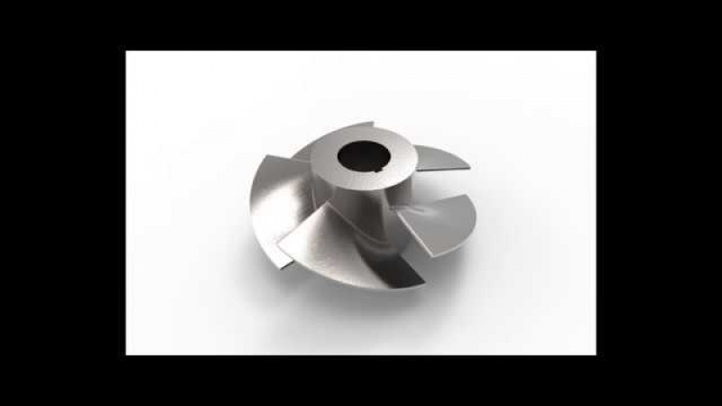 Solidworks in 8 minute - Axial Pump Impeller