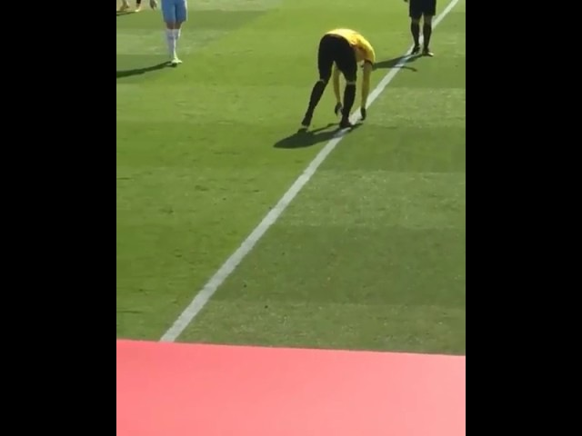 M'Baye Niang Saves a Bird on the Pitch
