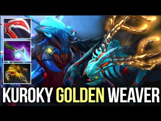 KuroKy *New* Golden Immortal Weaver - Desolator & Diffusal Build - DOTA 2