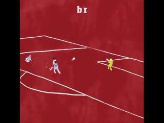 Второй гол Фалькао в ворота Манчестер Сити в зарисовке.