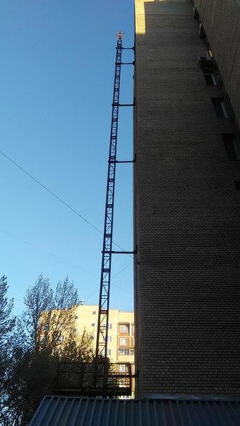 Постоянный внешний лифт на высотке