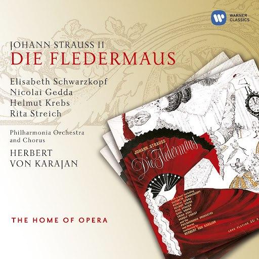 Johann Strauss II альбом J. Strauss II: Die Fledermaus (1955)