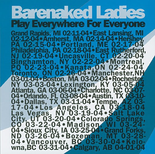 Альбом Barenaked Ladies Play Everywhere For Everyone - Hershey, PA 2-15-04 (DMD Album)