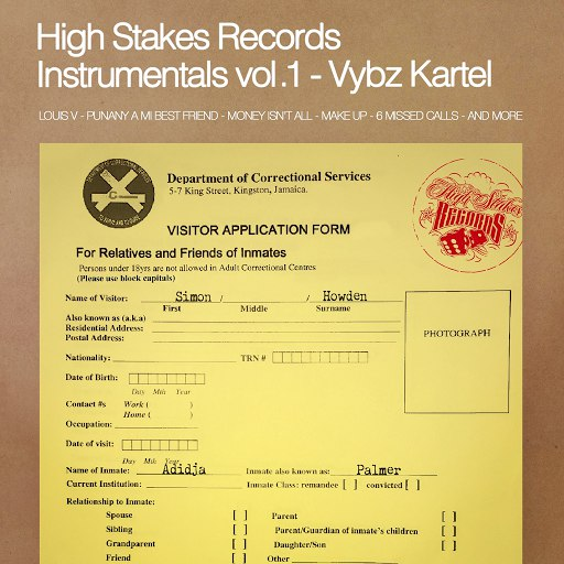 Vybz Kartel альбом High Stakes Records Instrumentals, Vol. 1