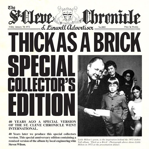 Jethro Tull альбом Thick As a Brick (40th Anniversary Special Edition)