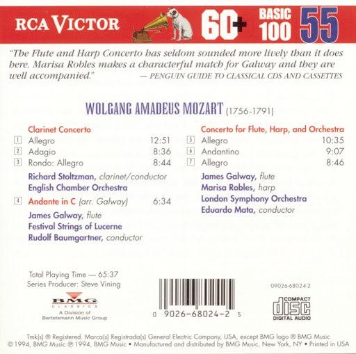 Richard Stoltzman альбом Mozart: Clarinet Concertos/Flute & Harp Concerto