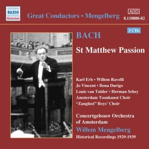 Johann Sebastian Bach альбом BACH, J.S.: St. Matthew Passion (Mengelberg) (1939)